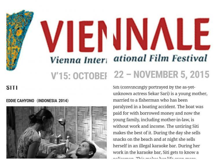 Nonton 'Siti' di Vienna FilmFestival