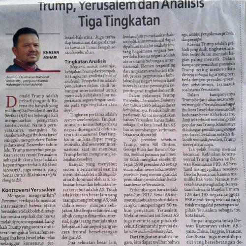 Trump, Yerusalem dan Analisis TigaTingkatan
